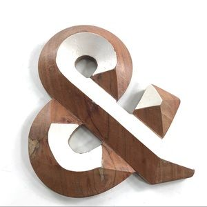 "Anthropologie Woodshop Monogram Wood "" & "" Sign"